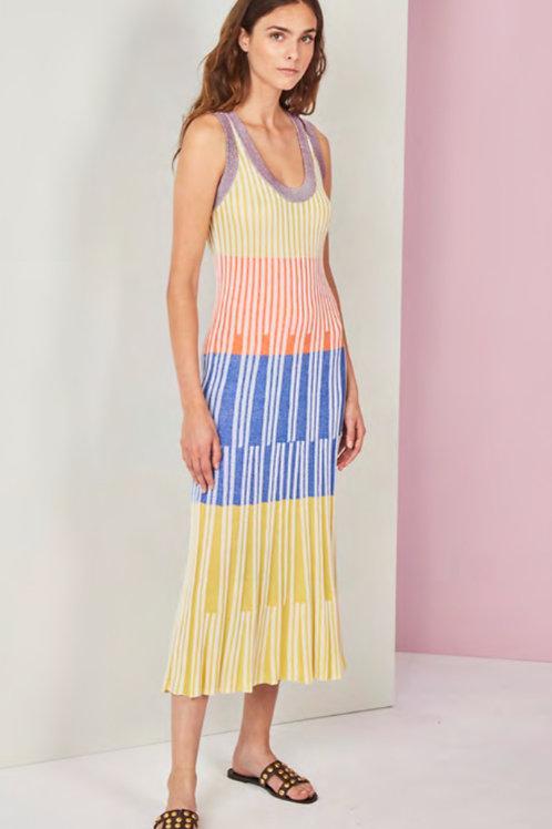 vestido de punto multicolor