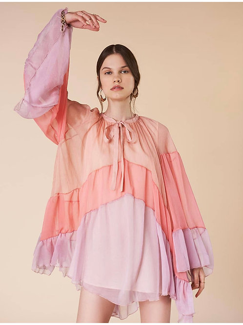 vestido georgette