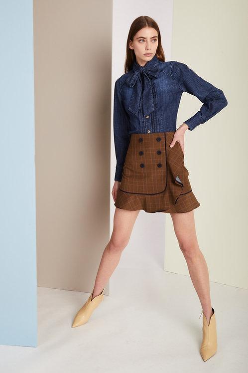 falda doble tejido