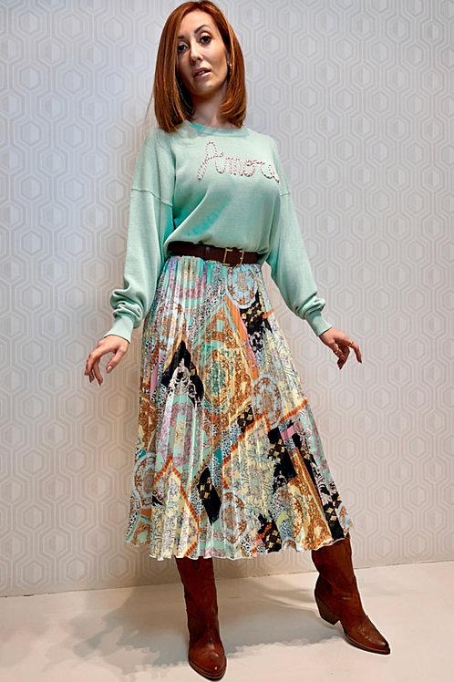 falda estampado Versace