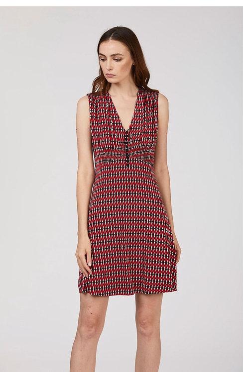 vestido de punto geometrico