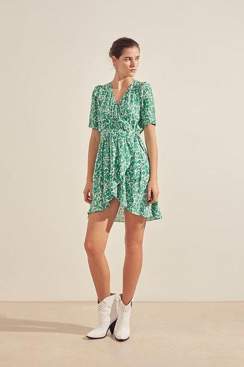 vestido viscosa verde