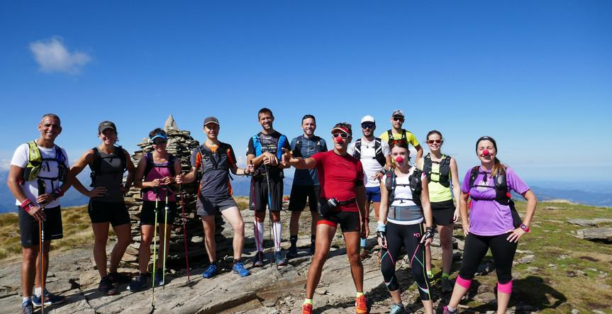 Groupe Trail avec le Dahu Ariégeois