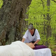 Massage en pleine nature