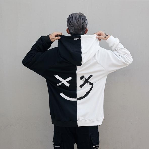 TN1! - Hoodies Sweatshirts Smile Print Headwear
