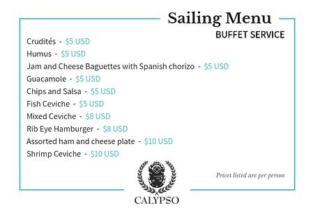 CalypsoCharters-SailingMenu-BuffetServic