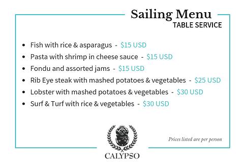 CalypsoCharters-SailingMenu-TableService