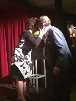 Jenna Kenney book launch Livia and Glenn hugging