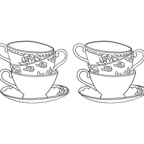 Teapot Colouring In