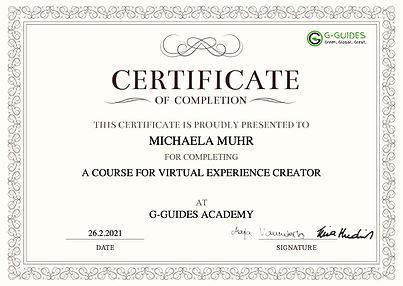 Michaela Muhr Virtual Tour Certificate.j