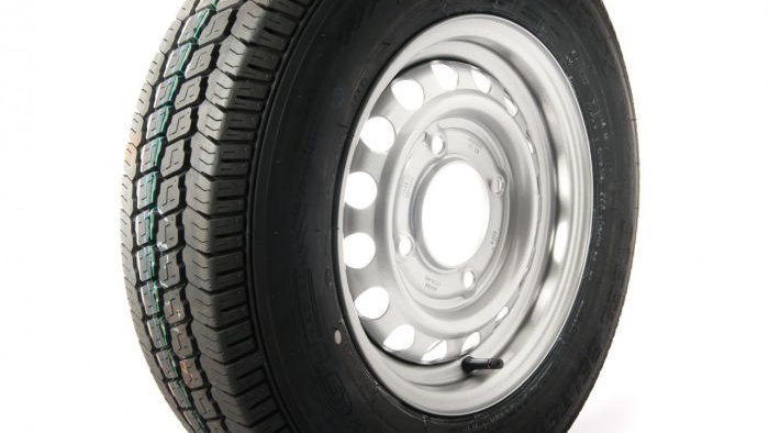 """165R13C wheel and tyre 4 x 5.5"""" PCD"""