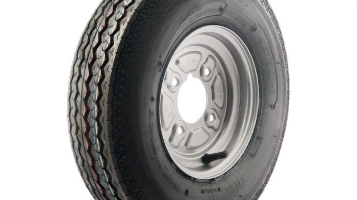 "400x8 wheel and tyre 4 x 4"" PCD"