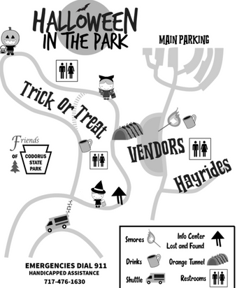 Halloween In The Park Map