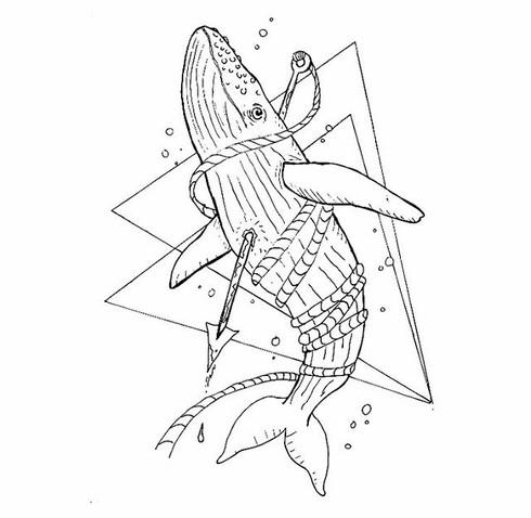 """Oh Whale"" T-shirt Design"