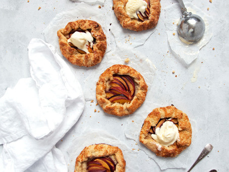 Easy Sugar Crust Mini Peach Galettes