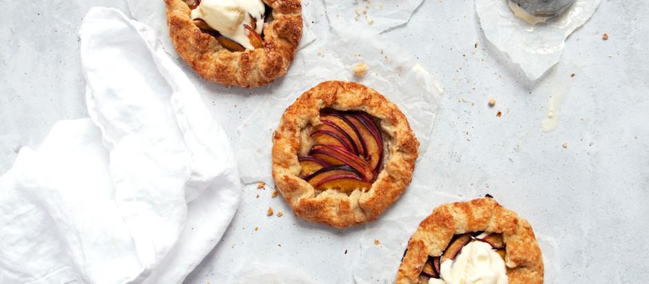 Easy Sugar Crust Mini Peach Galettes