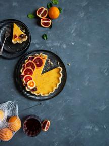 Blood orage pie | Catching Peelings Photography