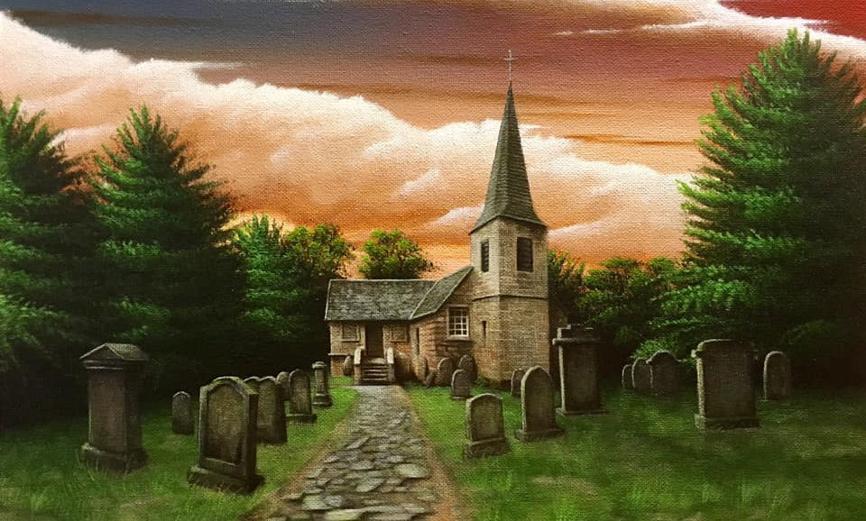 Original Alan Glasgow Glencourse Old Kirk Painting