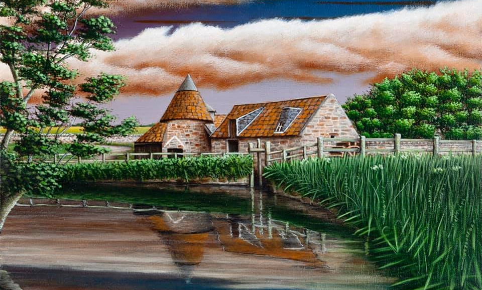 Original Alan Glasgow Preston Mill Painting