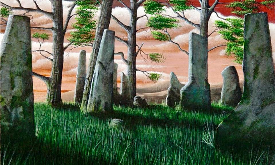 Original Alan Glasgow Craig Na Dun Painting