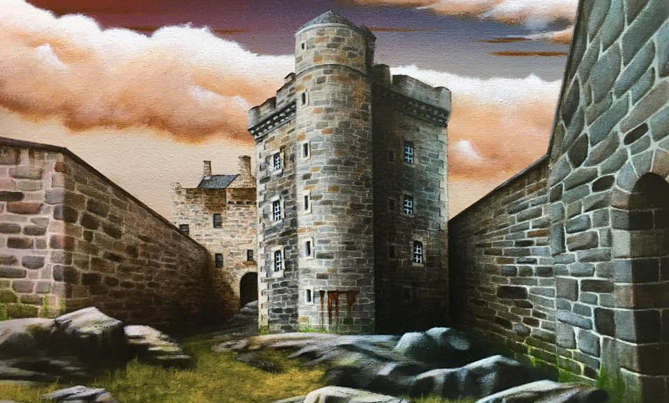 Original Alan Glasgow Blackness Castle Painting