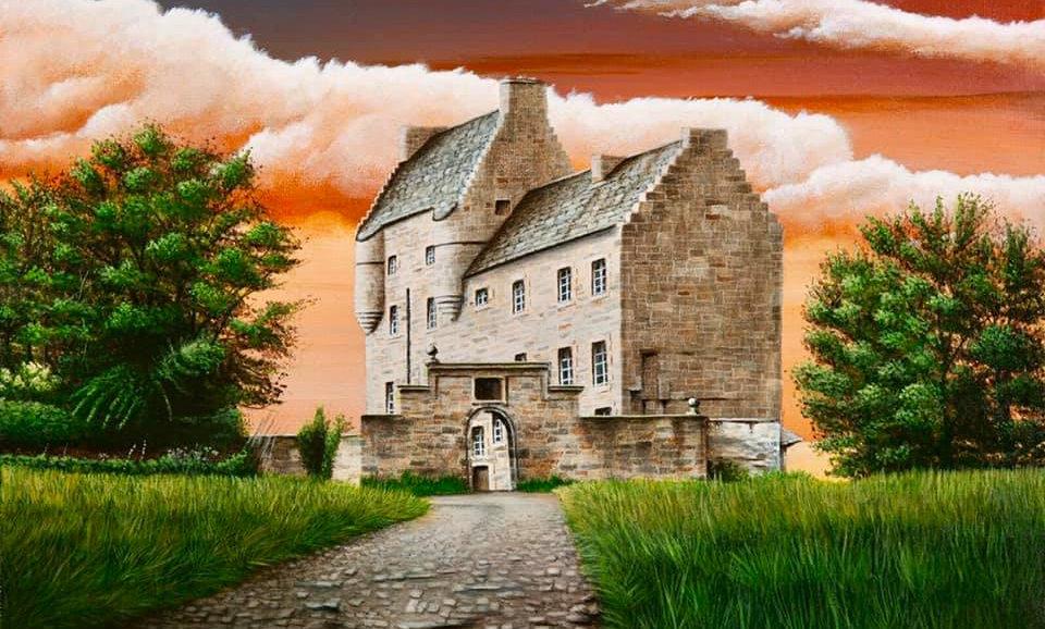 "Alan Glasgow Midhope Castle Print ""Lallybroch"""