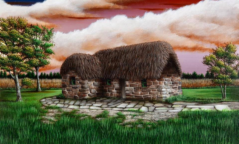 Original Alan Glasgow Culloden Moor Painting