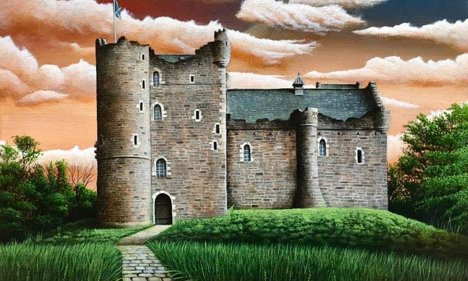 Original Alan Glasgow Doune Castle Painting