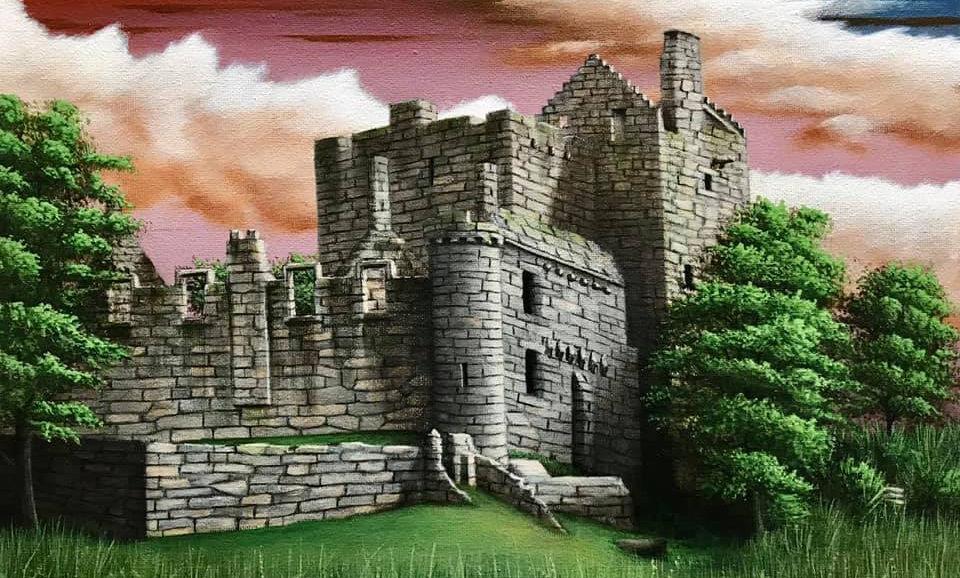 Original Alan Glasgow Craigmillar Castle Painting