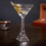 Eiffel Tower Martini Glass