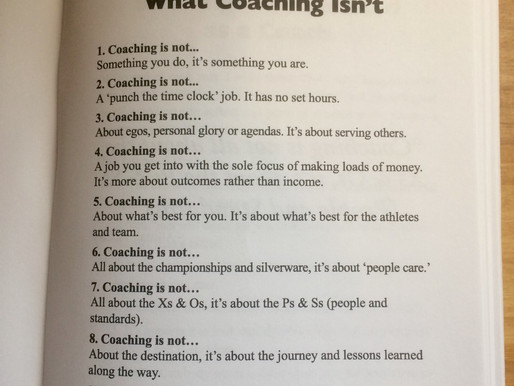 Being a Great Coach is About More Than Just Showing Up