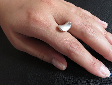 Silver jewelry float ring