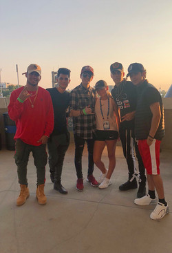 CNCO and Jessica Popiol