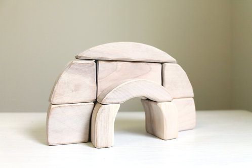 Ensemble de blocs en bois à empiler IGLOO