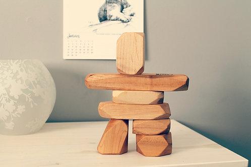 Ensemble de blocs en bois à empiler INUKSHUK
