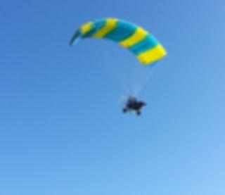 Aerochute dual paramotor trike