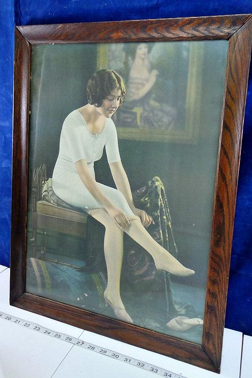 1920s Advertising Women's Stocking Poster