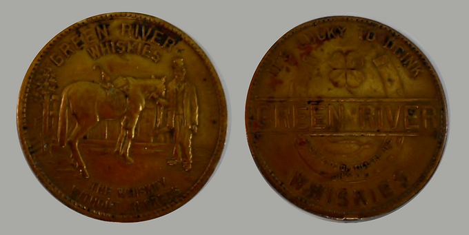 Green River Whiskies Advertisement Coin