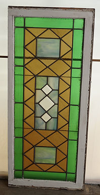1910s Stained Glass Transom Window
