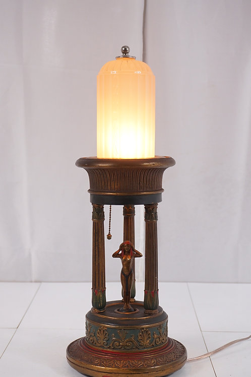 Art Deco Egyptian Revival Figural Table Lamp