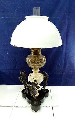 Art Nouveau Figural Oil Lamp