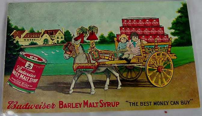 Advertising Postcard Budweiser Barley Malt Syrup