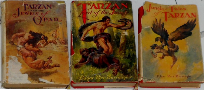 Set of 3 1918 Tarzan Books