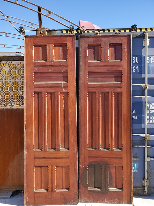 Pair Of Victorian Pocket Doors With Hardware Ca 1880s