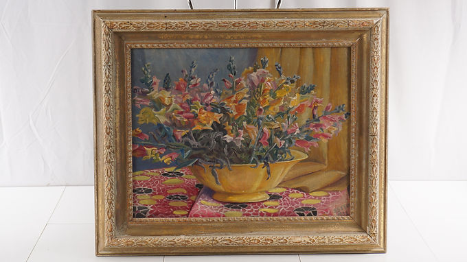 1933 Floral Oil Painting