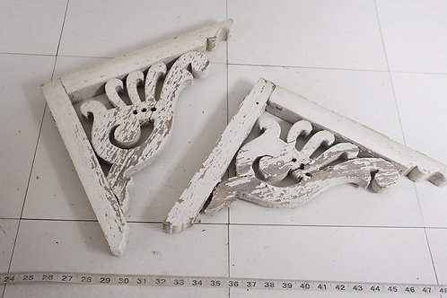 Pair Of Architectural Victorian Corbels Ca 1890s