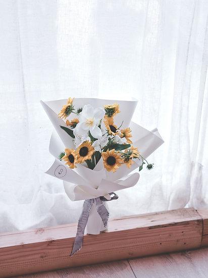 畢業花束 | 鮮花純白