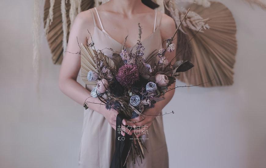 新娘   永生+乾花捧花