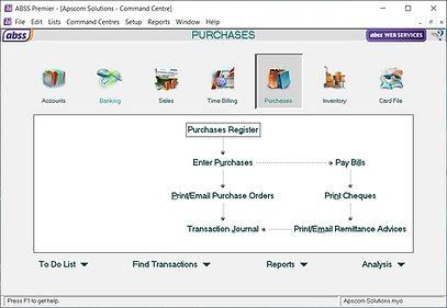 MYOB Purchase