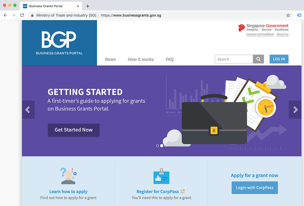 business grant portal